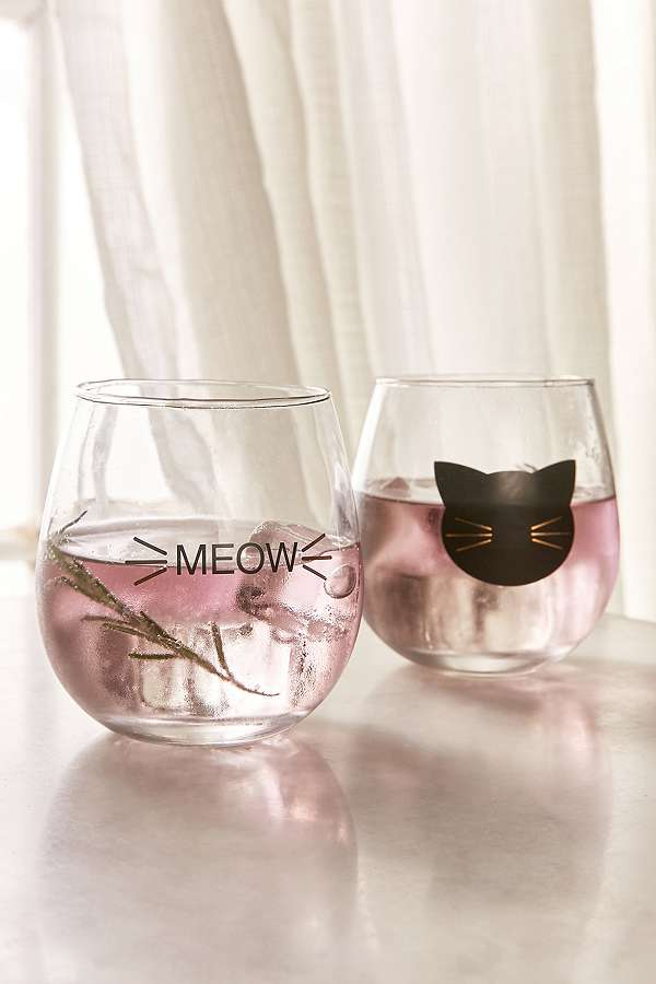 Pépites Urban Outfitters P'tit building - set verres meow - Urban Outfitters