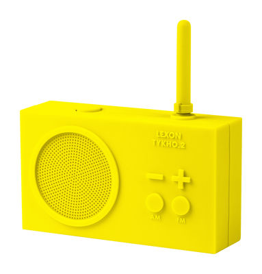 Coup de soleil sur la déco on passe au jaune - radio sans fil Lexon  - Made in Design